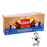 Liga Milkbreak biscuits with creamy milk-chocolate filling 245g