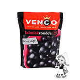 Venco Salmiakrondo's salty soft liquorice with liquorice powder 255g