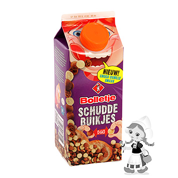 Bolletje Schuddebuikjes speculoos duo chocolate-vanilla 300g