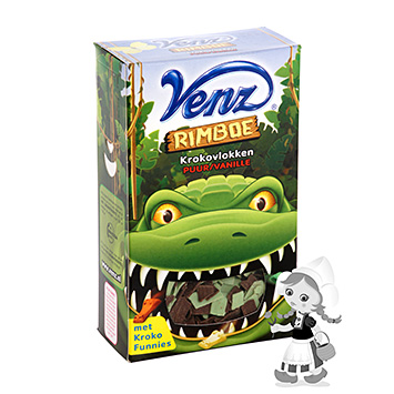 Venz Jungle crocodile Virutas de chocolate negro y vainilla 200 g